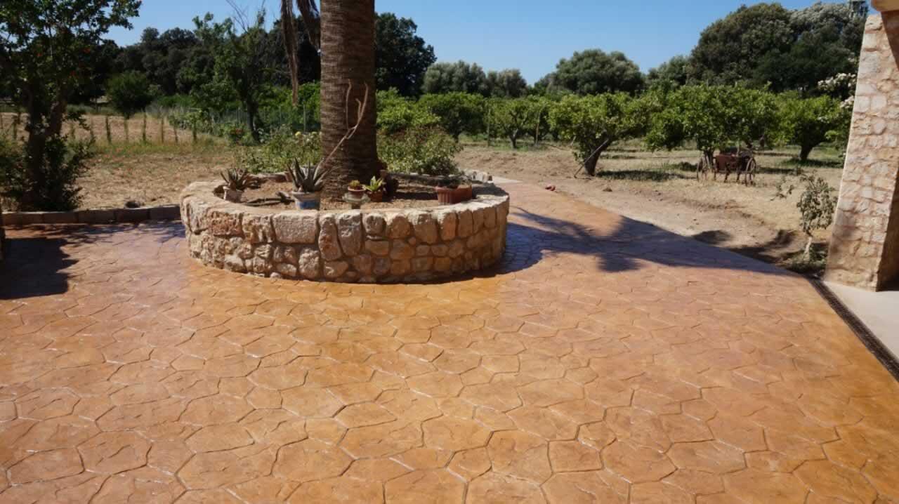 Pavimentos alonso mallorca pavimento de hormigon impreso for Hormigon impreso suelo